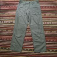 USN olive green military style fatigue pant