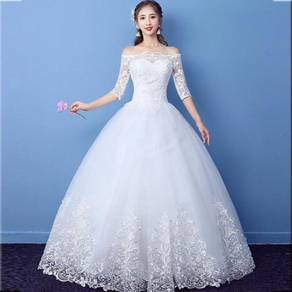 White wedding bridal prom dress gown RB0674