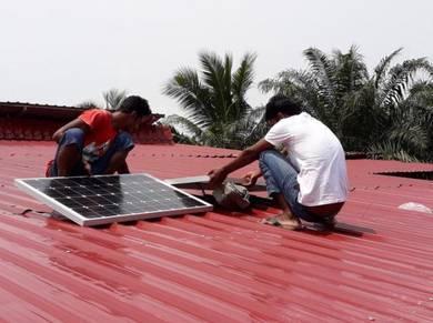 200W Solar DIY Pakej untuk kebun/ladang/kandang