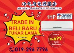Aircond Ceiling Cassette/Wall Aircond Bukit Jalil