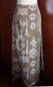 Long Skirt with Tieback