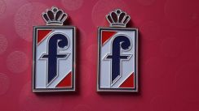 F pininfarina emblem metal new ferrari peugeot 406