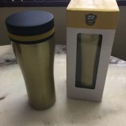 Gold thermos