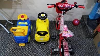 Kereta & Basikal Budak Clear Stor