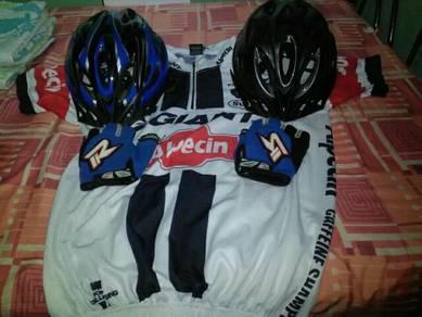 Baju basikal 1 set