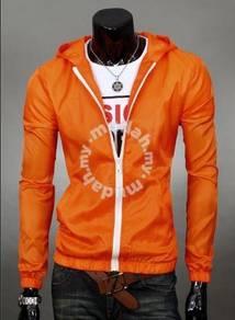 Classic Junior Hooded Thin Sweater Jacket (Orange)