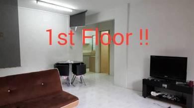 Saujana Apartment + 1st Floor + Below Market Value!!