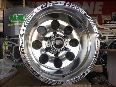Sport Rim 4X4 GT Wheel 15x10 DEEP LIP Polish 4X4