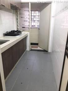 Desa satu apartment (kitchen cabinet,new paint,tiles floor)kepong