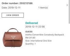 Guess aretha covertible crossbody backpack