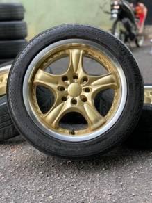 Work golden 15 inch sports rim saga flx tyr 70%