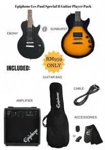 Guitar Player Pack Epiphone Les Paul Special II BK
