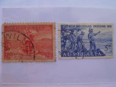 1936 & 1963 Australia Stamps - Used