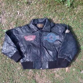 F-15 EagleTop Gun Lambskin Leather Kids Jacket