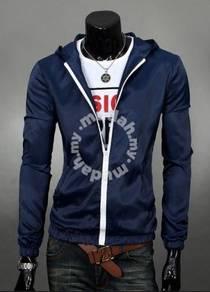 Classic Junior Hooded Thin Men Sweater (Dark Blue)