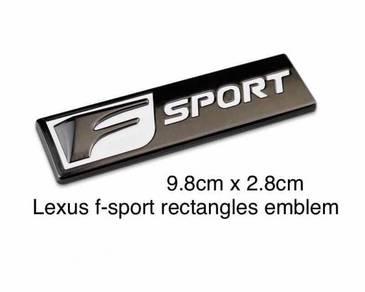 Lexus F sport Stainless Steel Emblem 9.8x2.8cm AG