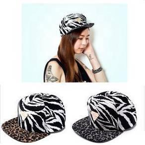 Hater Zebra Leopard GREY Snapback Flat Brimmed Cap