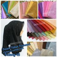 Tudung Cotton Diamond tabur
