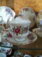 Vintage English Fine Bone China deco tea cup set