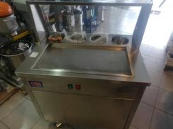Fry ice cream roll machine