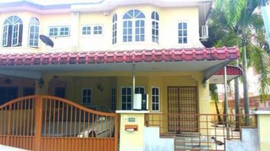 Nice Tasek Corner double Storey House partly furnished