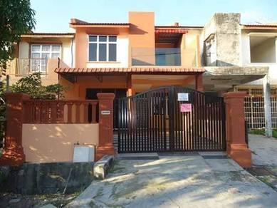 Rumah 2 tingkat/ ULU TIRAM/siap renovasi/1540sqft/4 bilik/100% loan