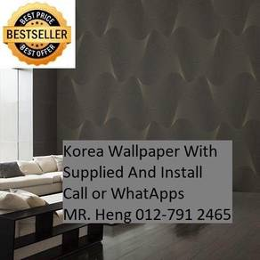 Pretty Wallcovering with Installation 0987yhg