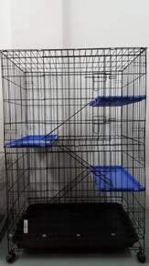 3 TGK Cat Cage (BIG) Tray Version Sangkar Kucing