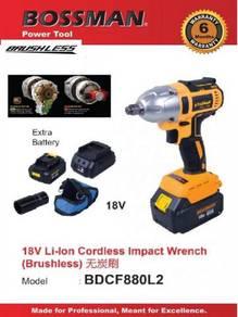 BOSSMAN 18V Brushless 1/2' Impact Wrench Li-Ion BD