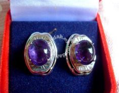 Amethyst Stones Set - Pair