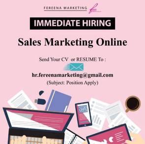 Sales marketing online