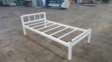 Single Bed Frame White Coated