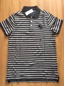ABERCROMBIE & FITCH stripe polo size S BRAND NEW