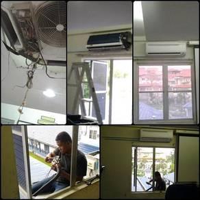 Perkhidmatan wiring elektrik, pasang lampu & kipas