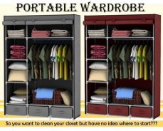 Bedroom Wardrobe With Neat Lower Storage Drawers