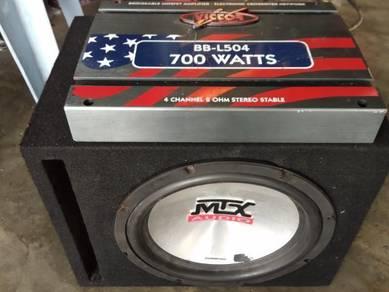 MTX Woofer & Victor Power amp