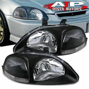 Honda Civic Ek So4 96-98 Head Lamp Black Taiwan