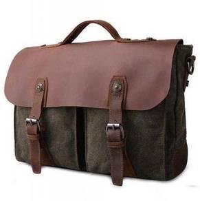 9652 Retro Army Green Military Messenger Sling Bag