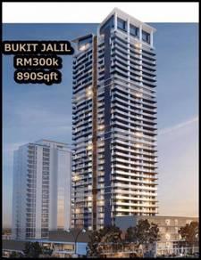 Bukit Jalil Condo 890sf 3R2B near LRT & Pavilion 2 KL