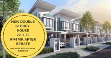 New double storey house [22' x 75']