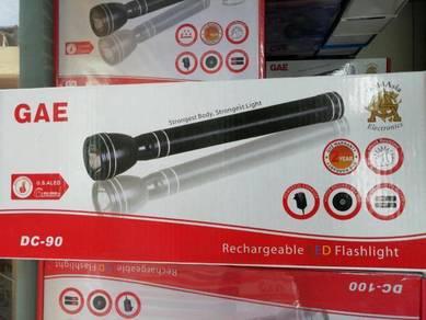 Gae dc-90 reachargeable led flashlight
