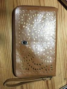 Authentic bonia leather clutch bag