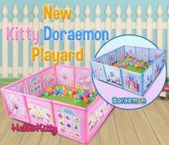 Doremon and kitty playard fence b7-55r.hyt