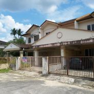 Double storey Terrace House at Green Hill Kuching