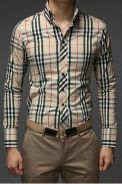 [41] Men's Plaid 2 Color Casual Long Sleeved Shirt