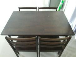 Dinning table set with 4 chairs self collect