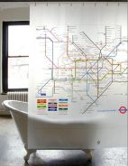 IDSC022 London Route Map Shower Curtain