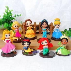 Princesses Bella Cinderella PVC Figure (8)pcs