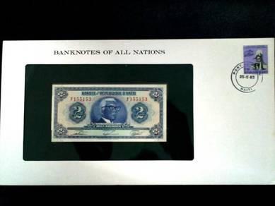 Haiti 2 Gourdes UNC Franklin Mint Banknote F155153
