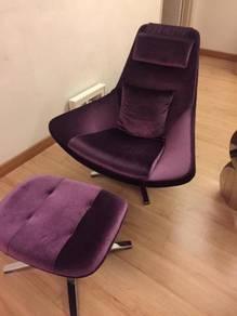 Modern chair maroon